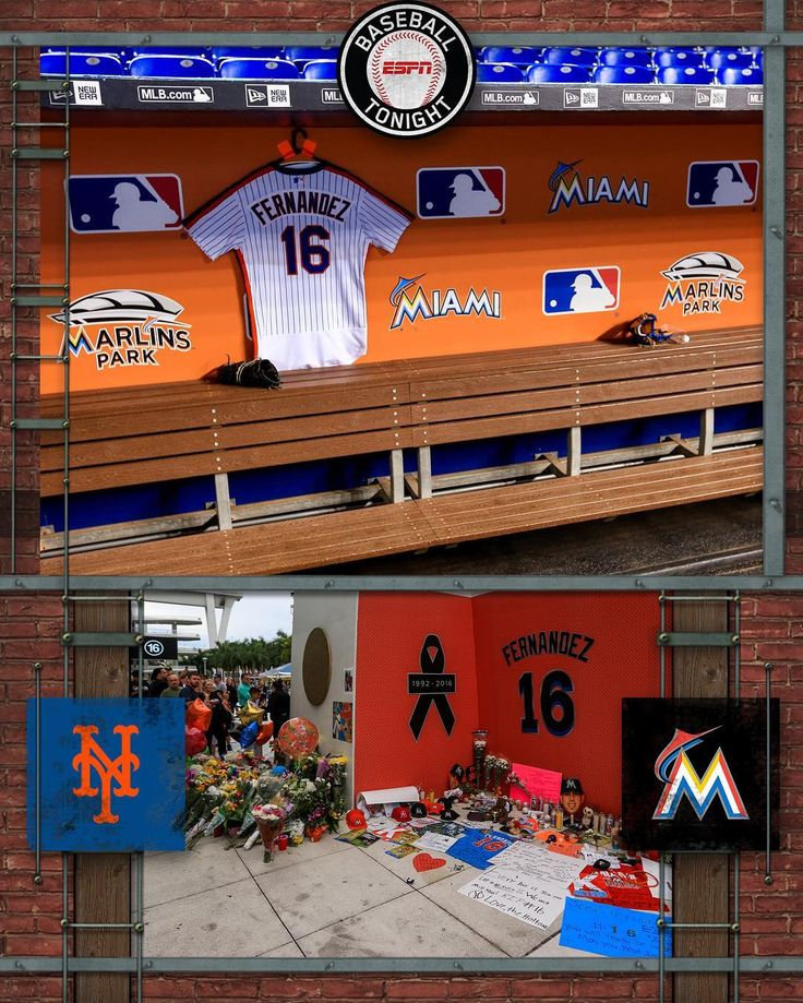 Before tonight's Marlins game, the tributes to Jose Fernandez continue, including a No. 16 jersey that hangs in the Mets' dugout.