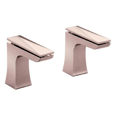 Heritage Hemsby Rose Gold Bath Pillar Taps - THPRG01