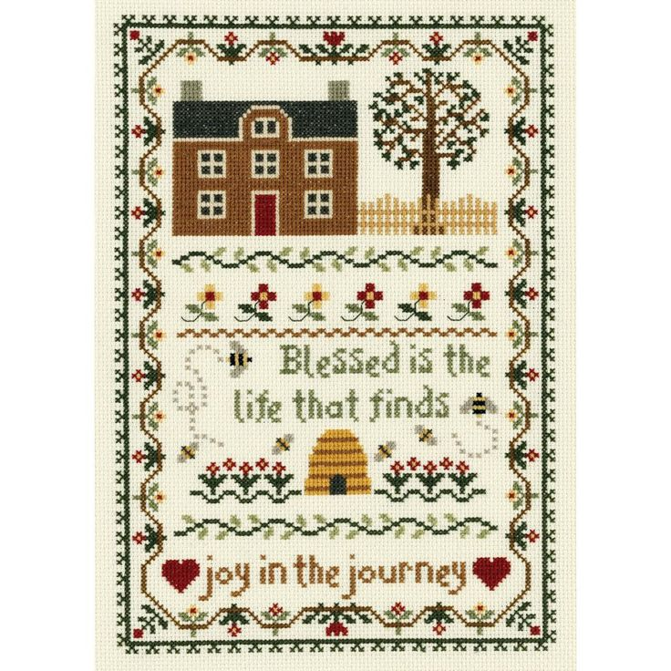 JANLYNN-Counted Cross Stitch Kit. Creative designs and quality products are put in to each of Janlynn's kits. This kit contains 14 count cream Aida, 6-strand 100% cotton floss, needle, graph, and inst