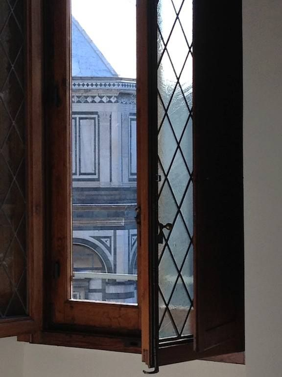 The window in living room in front to Battistero
