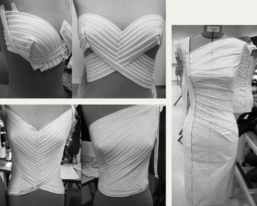 Draping and Moulage | The Cutting Class. Details of draping and moulage found on Pinterest, image 1.: