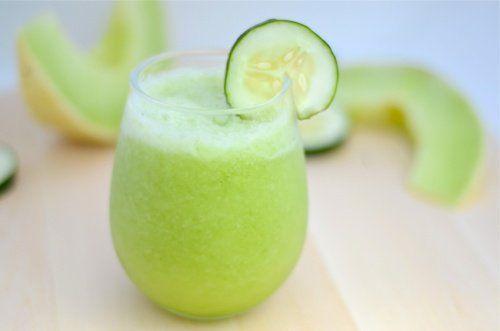 Batido de melón, manzana verde y pepino para bajar de peso