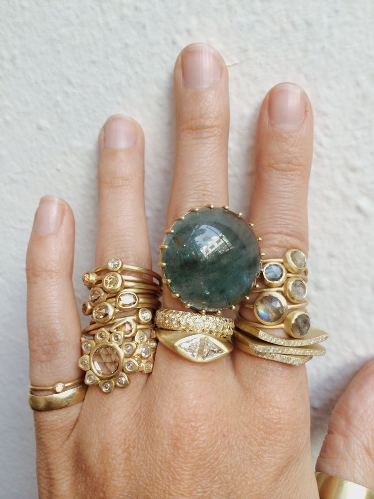 Too much Gold? No such thing! #LightlyLayer #Gold #Rings