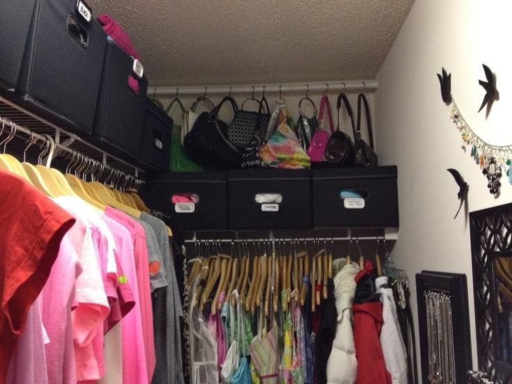 Closet Organization... Love The Purse Idea