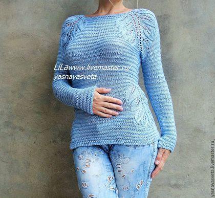 Кофты и свитера ручной работы. Свитер женский Angel шелковый. Света Ясная LiLa…