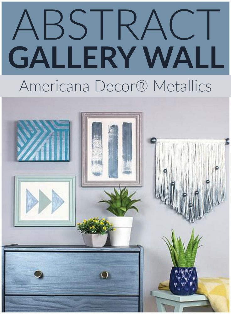 Create this project with Americana Decor® Metallics™ — Light up a wall with touches of Americana Decor® Metallics™.