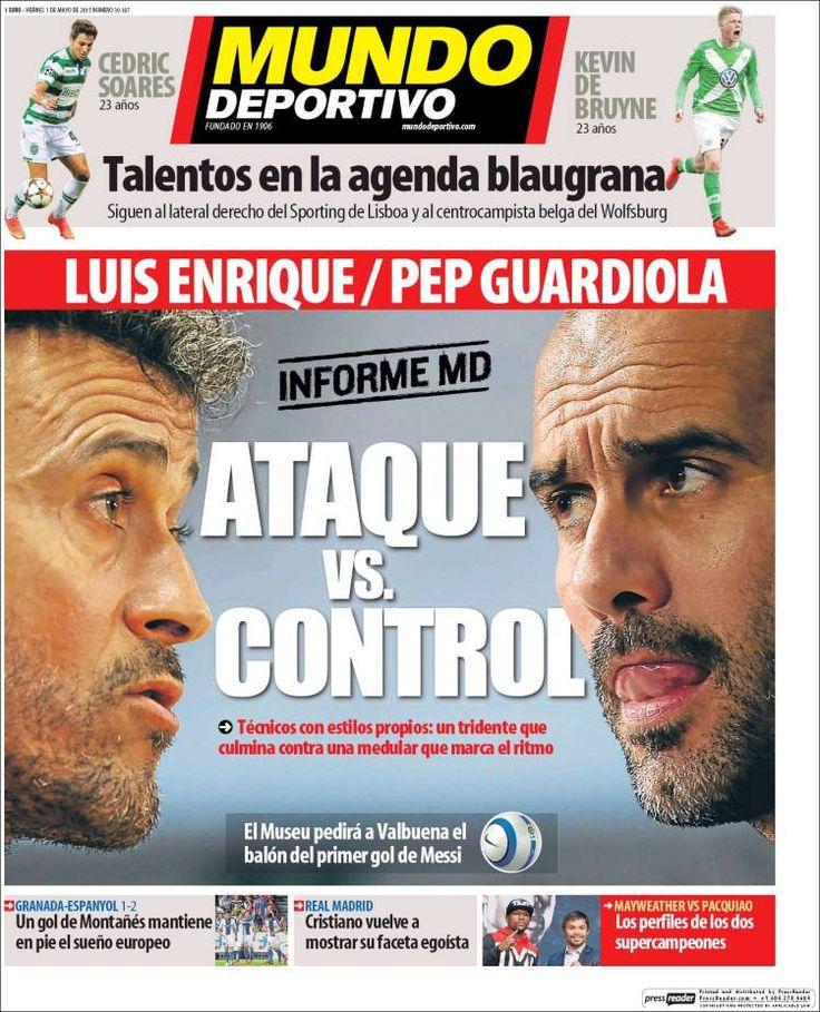 Portada Mundo Deportivo 1/05/2015