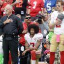 Buffalo Bills fans chant 'USA' before Coin Kaepernick of San Francisco 49ers kneels