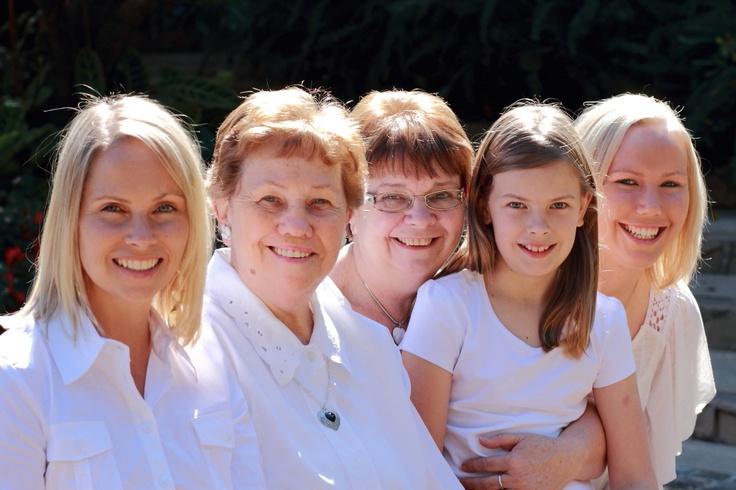 Three generations of beautiful women