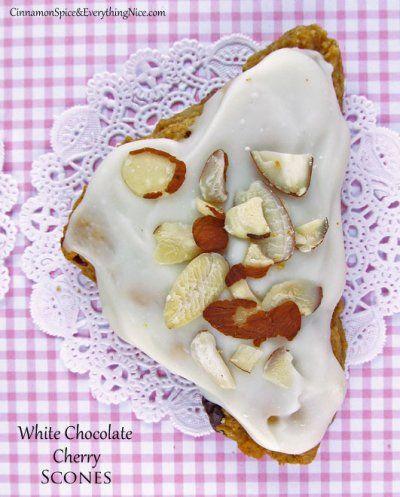 White Chocolate Cherry Scones
