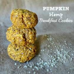 Pumpkin Hemp Breakfast Cookies | Hemp recipes | Pinterest