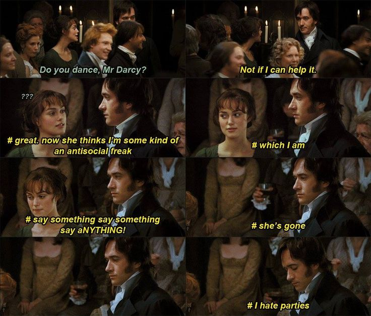 """Pride and Prejudice Darcy Inner Struggles...this would be funny if this was what was actually going through his mind, but Mr. Darcy was just an egotistical """"gentleman"""" whose selfish disdain for the feelings of others nearly costs him the love of his life."""
