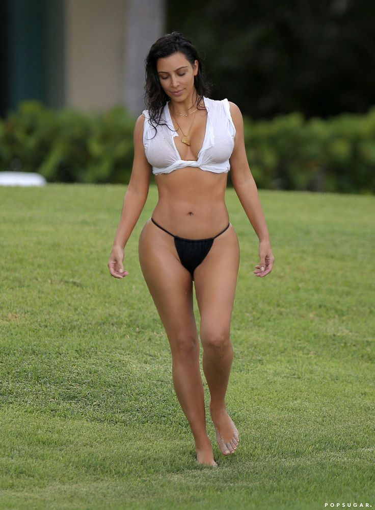 Kim Kardashian Shows Off Her Best Assets During an NSFW Poolside Photo Shoot