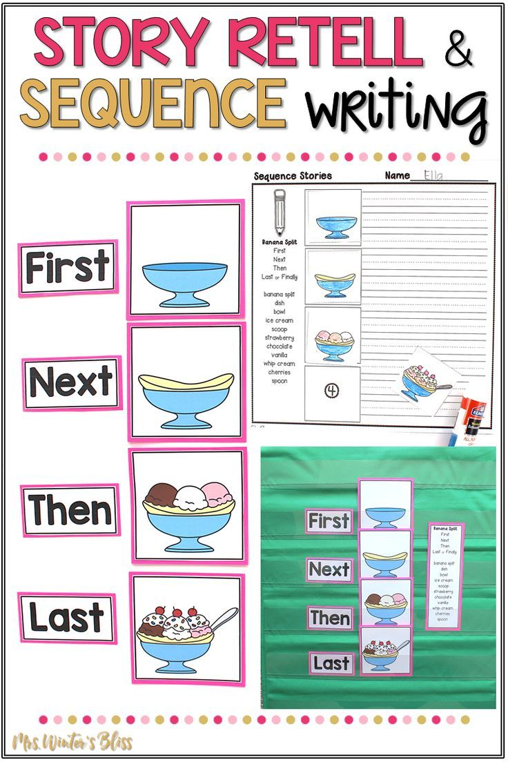 story retell and sequence writing
