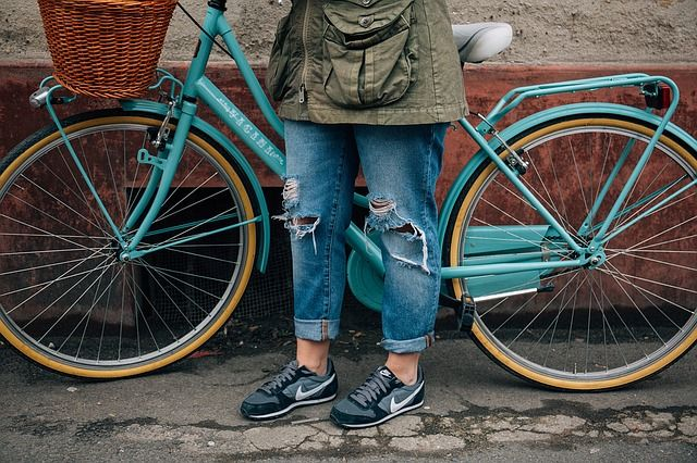 Bicicleta, Desigual, Torn, Ropa Rasgada, Antigua