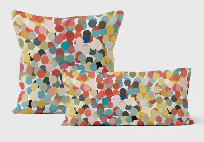 Decorative pillows for couch, Throw pillow covers 18x18, Pillow cases handmade, Confetti pillows, Dots pillow, Turquoise, Coral Pillow by ReStyleGraphic on Etsy https://www.etsy.com/listing/466645140/decorative-pillows-for-couch-throw