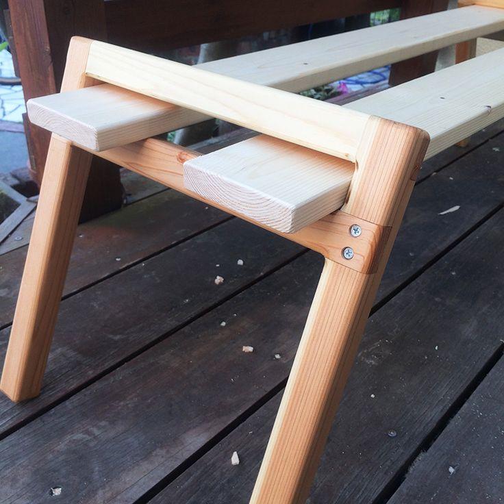 Diyでキャンプ用ウッドラックとクーラーボックススタンドを作りました けーblog ウッドラック アウトドア テーブル 自作 キャンプ テーブル 自作