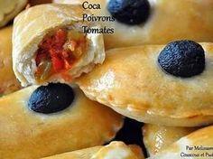 Cocas (Cokas) ou Chaussons aux Poivrons et Tomates à la pâte maison - Couscous et Puddings