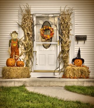 34 best images about thanksgiving on pinterest for Bales of hay for decoration
