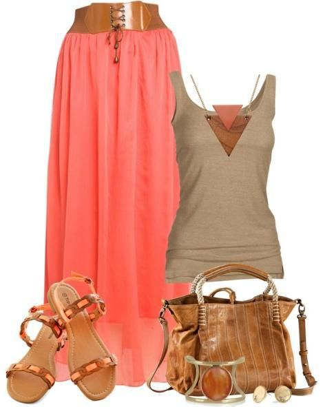 33 Polyvore Combinations For Every Day #maxiskirt #outfit