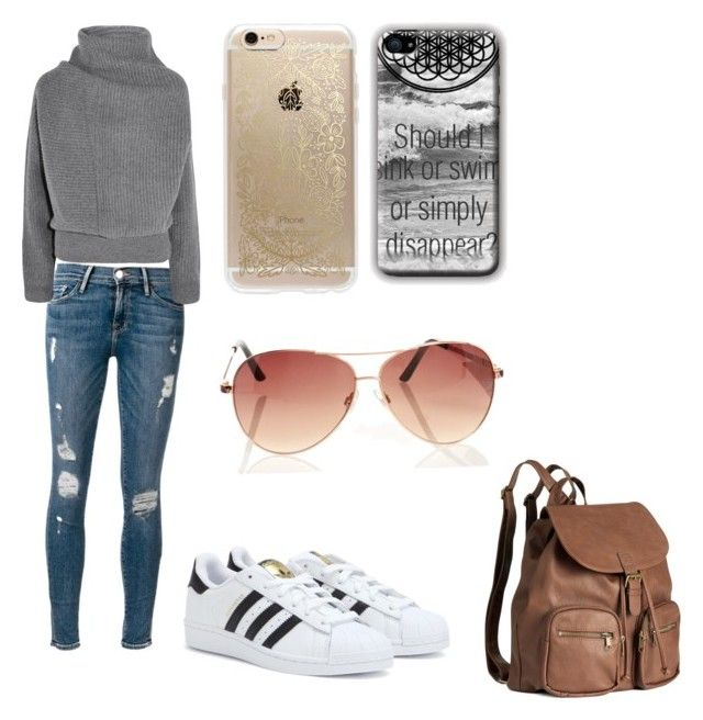 """..."" by xoannexo ❤ liked on Polyvore featuring Frame Denim, adidas, Acne Studios, H&M and Rifle Paper Co"