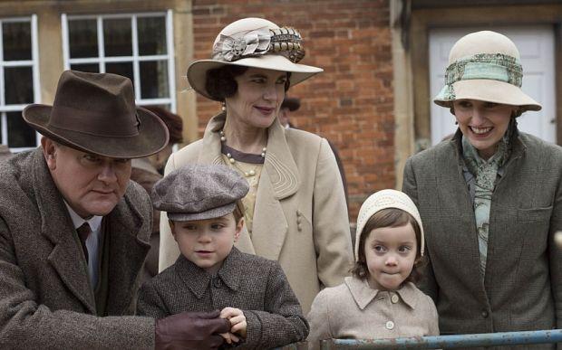 Downton Abbey Costume Recap: Season 6, Episode 2: Robert, George, Lady Cora, Marigold and Lady Edith Crawley