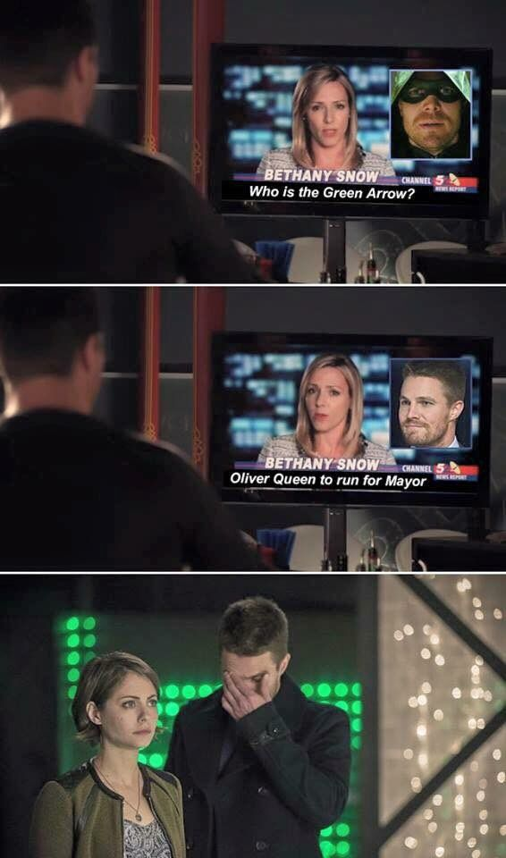 Who is the Green Arrow? Oliver Queen to run for Mayor... awkward!