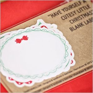Festive little #decorations picked by SheKnows Australia - excited our blank #labels and #christmas #gifttags were included! via SheKnows Australia