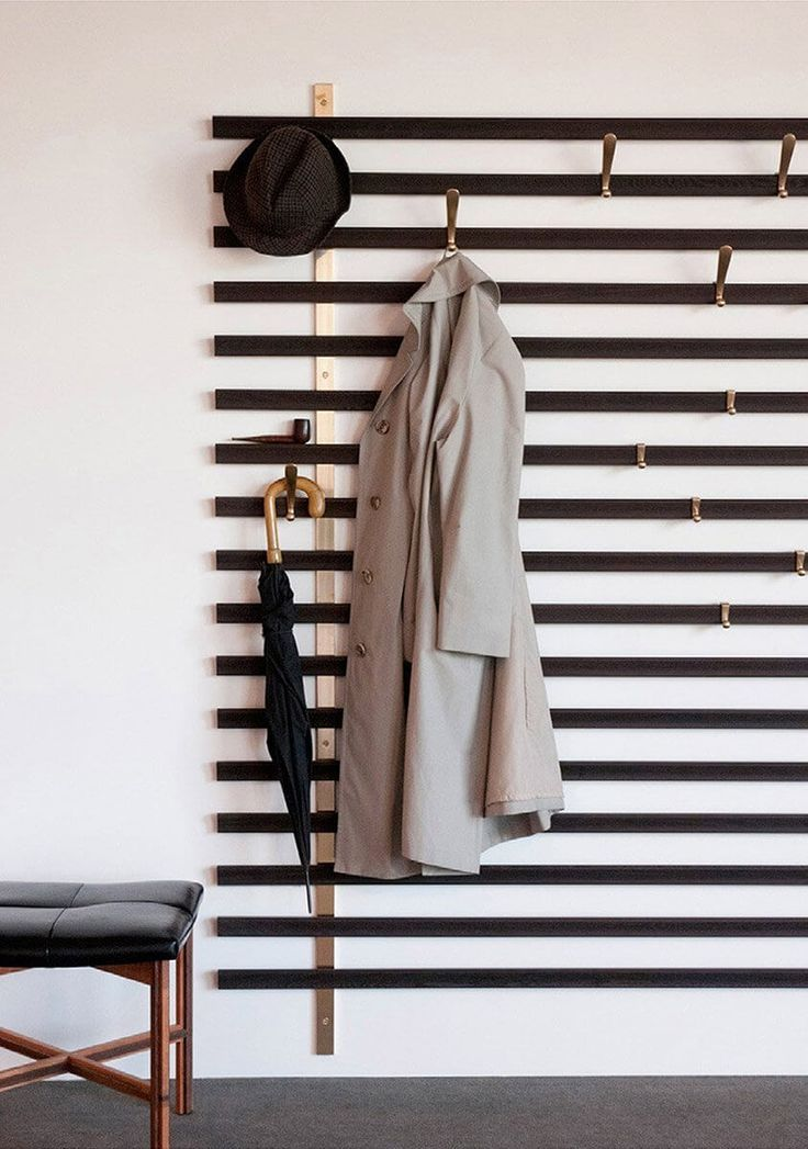 If you are lucky enough to have one of these classic pieces on hand, learn five unexpected DIY hat and coat rack ideas to help you get the most use out of it. #CoatRack #HatRack #HallWay #WallMounted