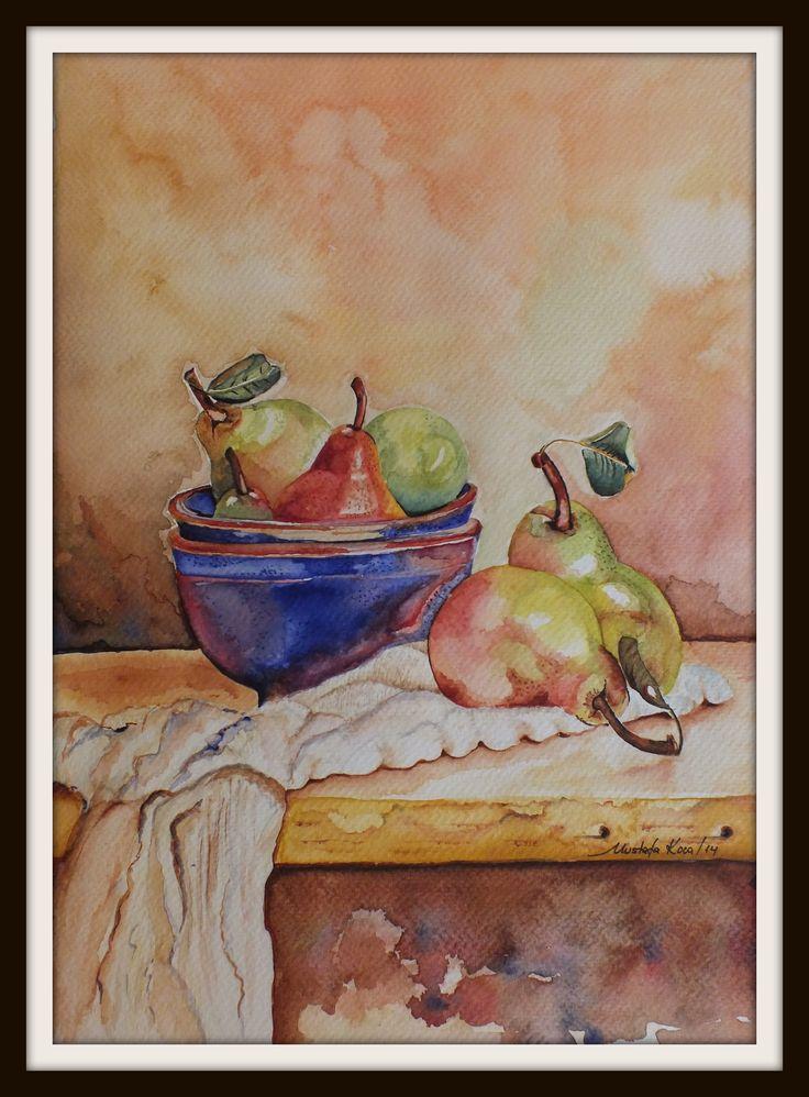 "watercolor"" pears"""
