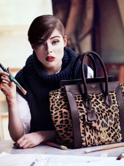 Celine Mini Luggage, Leopard Print Pony Hair Tote Bag | HANDBAG ...