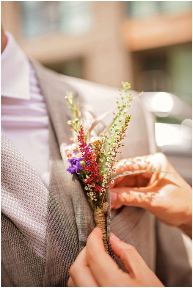 Groom boutonnierre ideas for boho wedding - 99 sudbury wedding toronto - melissa avey photography