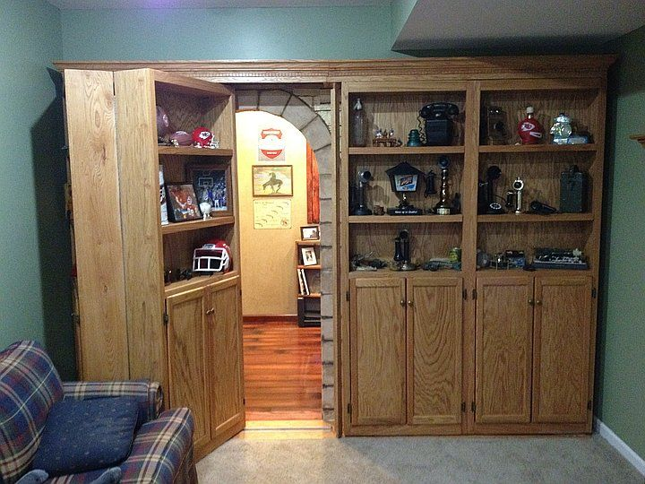 Man cave madness home decor pinterest caves the for Hidden gun room