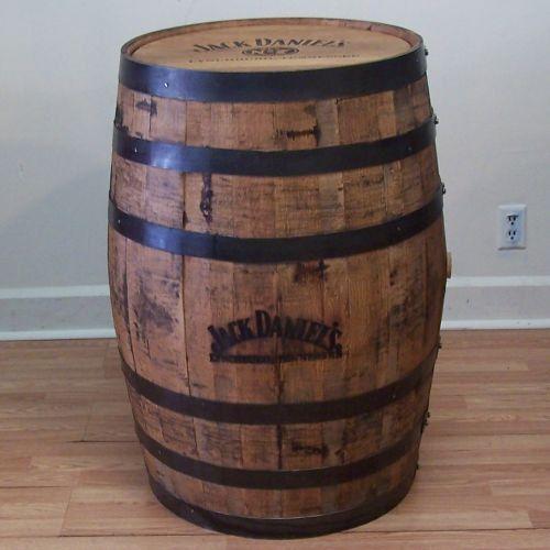 Jack Daniels Branded and Laser Engraved Whiskey Barrel. $240.00, via Etsy.