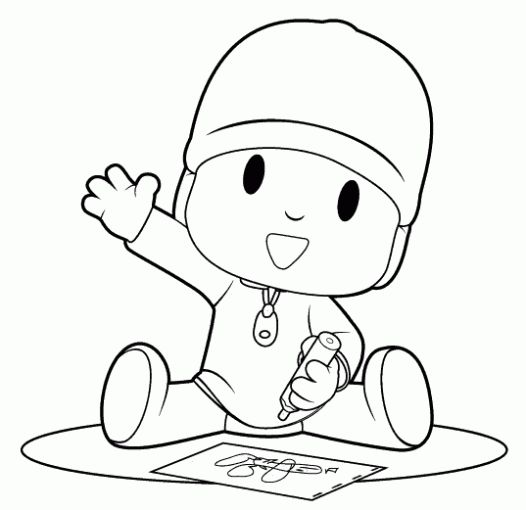 Printabel coloring pages for kids pocoyo drawings printable coloring pages for