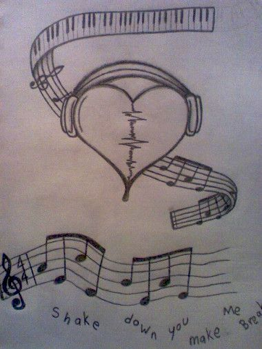 broken heart headphones | tattoo ideas | Pinterest | Music ...