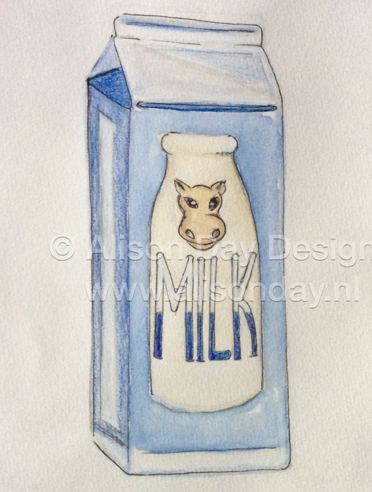 Food illustration - Milk by Alison Day