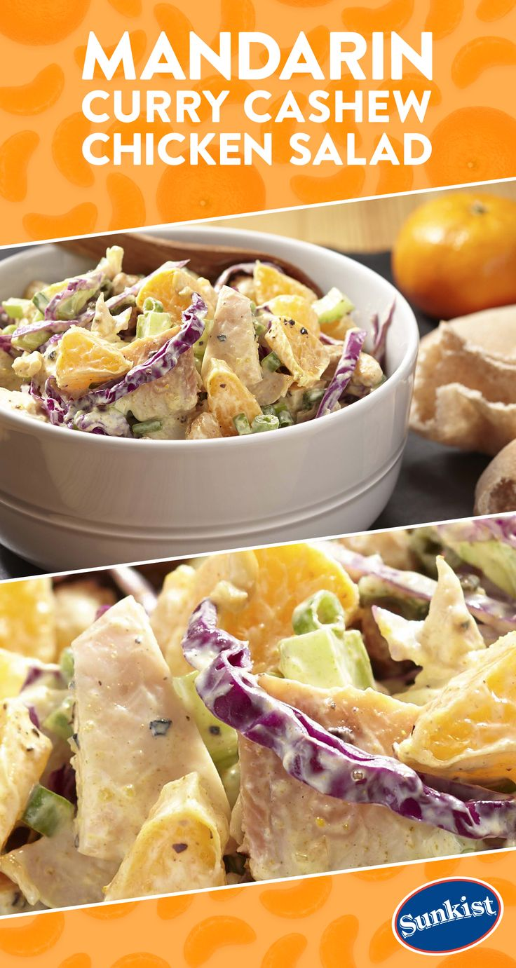 Fill a pita pocket with this flavorful and seasonal chicken salad featuring sweet Gold Nugget mandarins, savory curry spice and a satisfying crunch from roasted cashews for a satisfying lunch any day of the week.