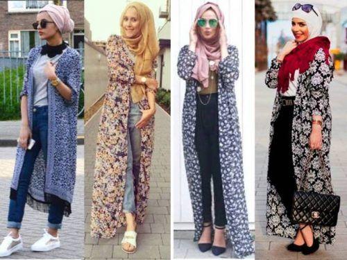 long chiffon cardigans- Muslim women hijab trends http://www.justtrendygirls.com/muslim-women-hijab-trends/