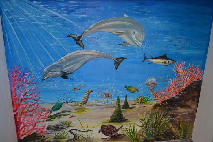murales fondo marino  parete scala 2014 autore Natalia Albanese
