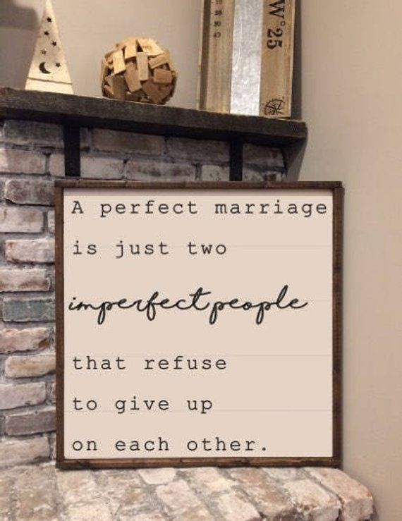 A Perfect Marriage Wood Sign Rustic Home Decor Products Home