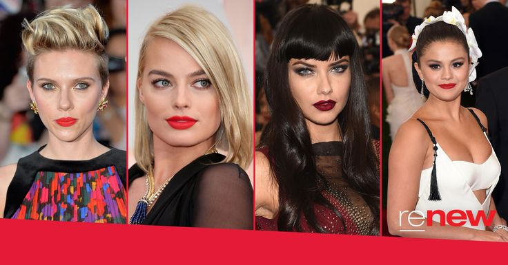 Bold lips, defined brows and long lashes! These are our favourite celeb makeup looks! Whose look would you use as inspiration? 1) Scarlett Johansson 2) Margot Robbie  3) Adriana Lima  4) Selena Gomez