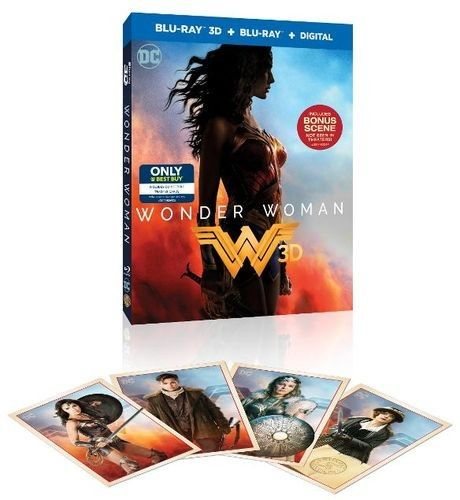 Wonder Woman [Collectible Trading Cards Included] [3D] [Blu-ray] [Digital Copy] [Only @ Best Buy] [Blu-ray/Blu-ray 3D] [2017] - Front_Standard