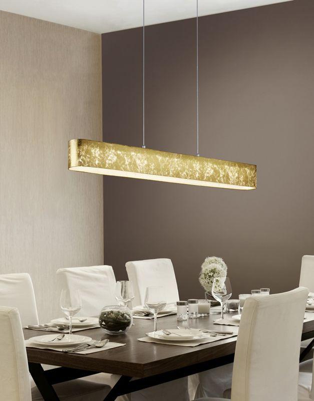 żyrandol Lugano 320910179 Złoty Led Trio Oświetlenie Do