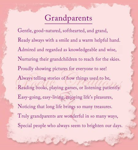 Image detail for -poems about grandparents greatgrandparents and grandchildren poems for ...: