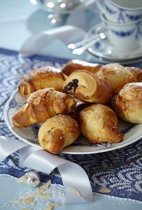 Skønne croissanter og horn til morgenbordet i juledagene