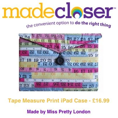 Product of the Week: Tape Measure iPad Case made by Miss Pretty London