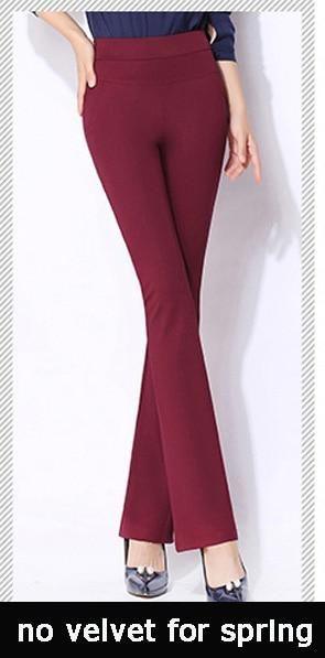 Vintage Office Skinny Women Pants Trousers Zipper High Waist Pocket Flare Pants Formal Ol Office Career Capris Work Wear Black r