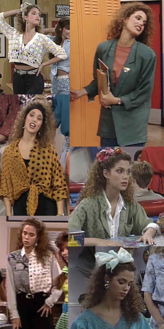 "Jessie's wide array of depressing earth tones. | The Ultimate Guide To ""Saved By The Bell"" Fashion"