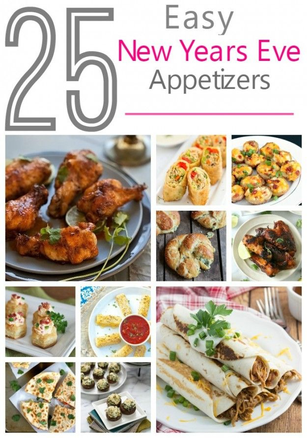 25 easy party appetizers new year 39 s eve appetizers for Appetizer ideas for new years eve party